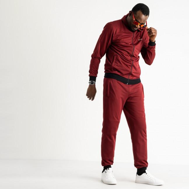 1660-4 бордовый мужской спортивный костюм трикотажный (5 ед. размеры: 46.48.50.52.54) Спортивный костюм: артикул 1119331