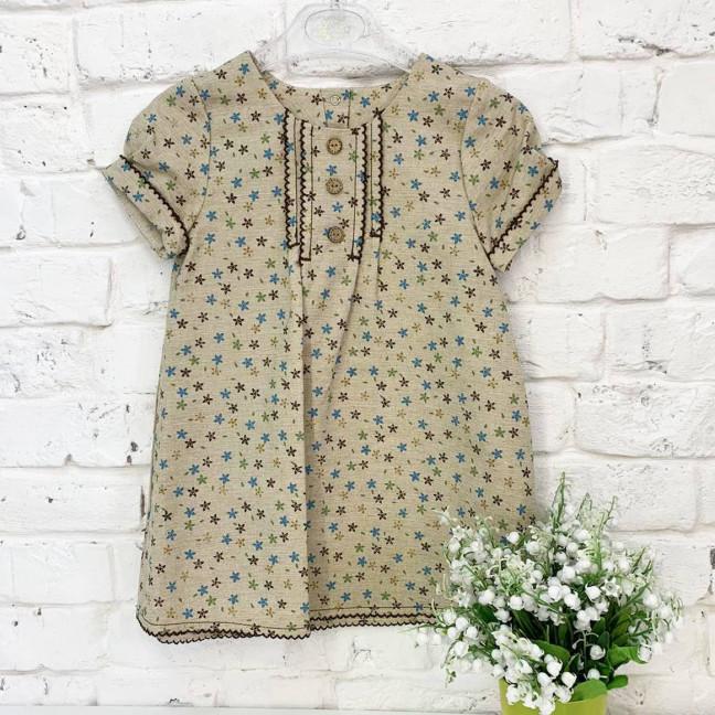 1325-2 платье льняное бежевое на девочку 2-4 года (3 ед.размеры: 92.98.104) Маленьке сонечко: артикул 1121509