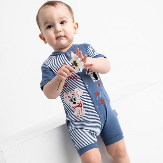 17068 Emotion Kids синий комбинезон на мальчика 3-12 мес. (6 ед. размеры: 68.68.74.74.80.80) Emotion kids: артикул 1118188