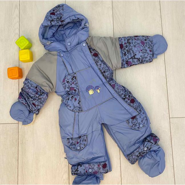 0161-3 Jing Pin голубой комбинезон-трансформер на овчине на мальчика от 6 мес до 1,5 года (4 ед . размеры: 78.74.80.86) Комбинезон: артикул 1123601