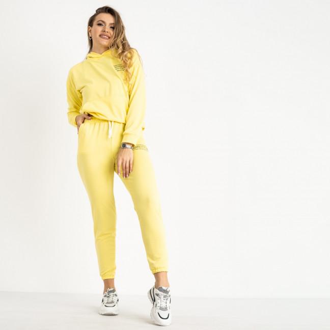 15225-14 светло-желтый женский спортивный костюм из двунитки (4 ед. размеры: S.M.L.XL) Спортивный костюм: артикул 1119995