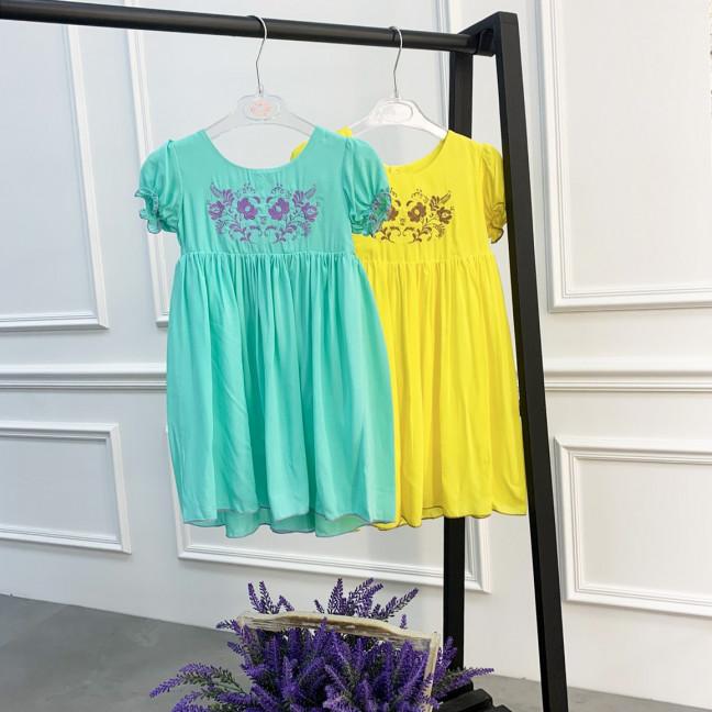 0264-33 платье микс цветов на девочку 1-3 года (3 ед.размеры: 80.92.104) Маленьке сонечко: артикул 1121516