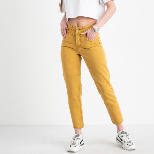 3283 мом желтый котоновый (8 ед. размеры: 25.26/2.28/2.30/2.32) Джинсы: артикул 1120842