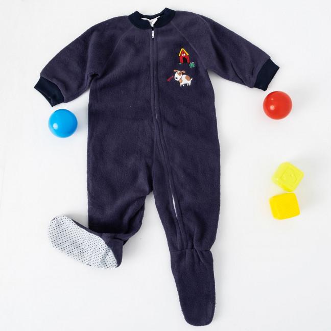 1781-2 синий детский комбинезон-человечек на ребенка 2,5-5 лет на флисе (5 ед. размеры 4.6.7/2.8) Комбинезон: артикул 1120270