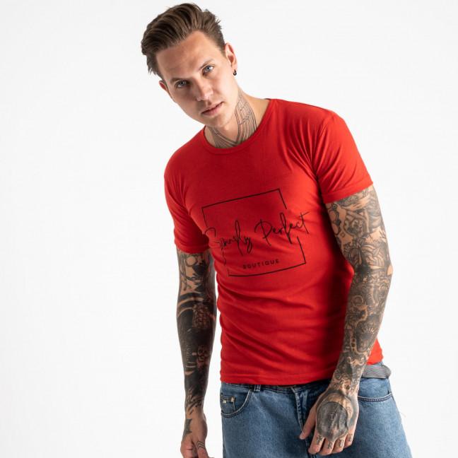2603-3 красная футболка мужская с принтом (4 ед. размеры: M.L.XL.2XL) Футболка: артикул 1120909
