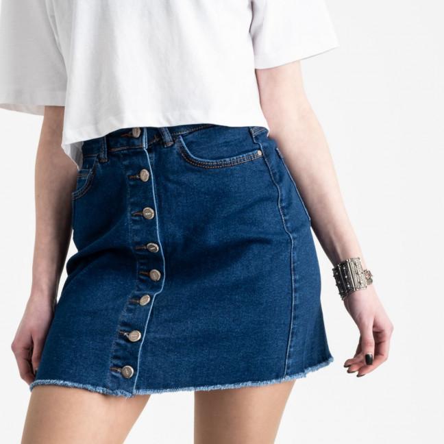 0590-Pusk Arox юбка джинсовая на пуговицах синяя  стрейчевая (4 ед. размеры: 34.36.38.40) Arox: артикул 1105488