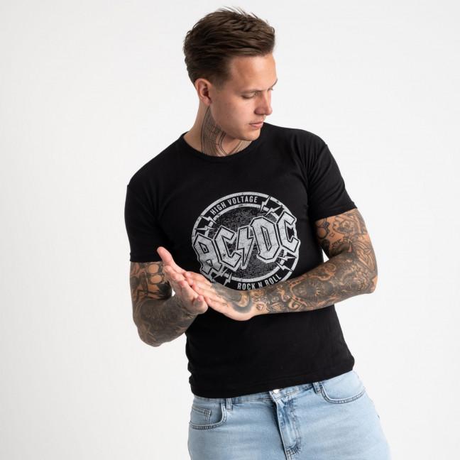 2628-1 черная футболка мужская с принтом (4 ед. размеры: M.L.XL.2XL) Футболка: артикул 1121096