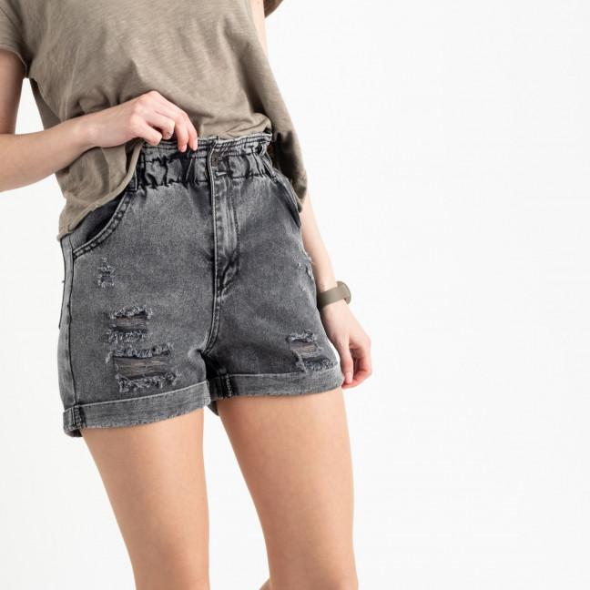 0451-2 Miss Aura шорты джинсовые серые котоновые  (9 ед. размеры: 34.36/2.38/2.40.42/2.44) Miss Aura: артикул 1122457