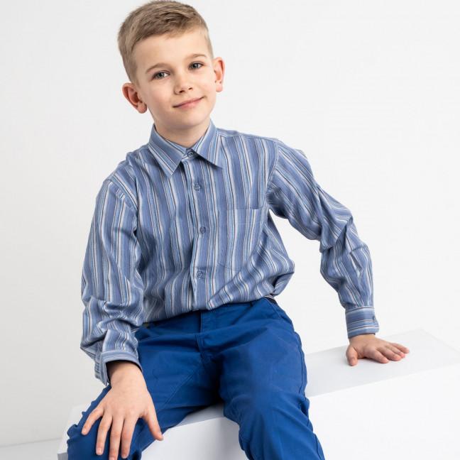 1905 Boston Public синяя рубашка в полоску на мальчика 7-15 лет (5 ед. размеры: 30/31.32/33.33/34.34/35.35/36) Boston Public: артикул 1118413