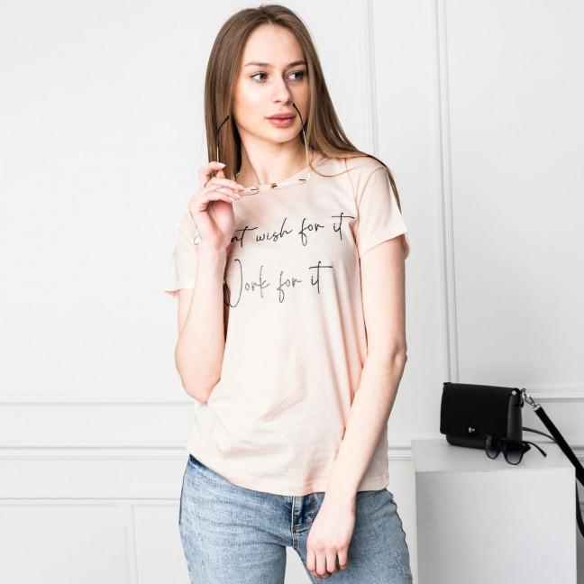 2509-23 Akkaya розовая футболка женская с принтом стрейчевая (3 ед. размеры: M.L.XL) Akkaya: артикул 1120082