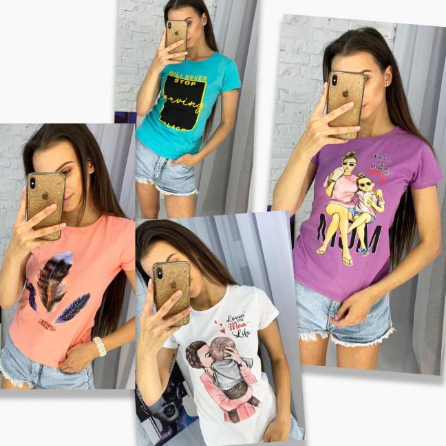 3704-99 футболка женская микс  моделей и цветов без выбора цветов (20 ед. размеры: универсал 42-44) МИКС: артикул 1122956