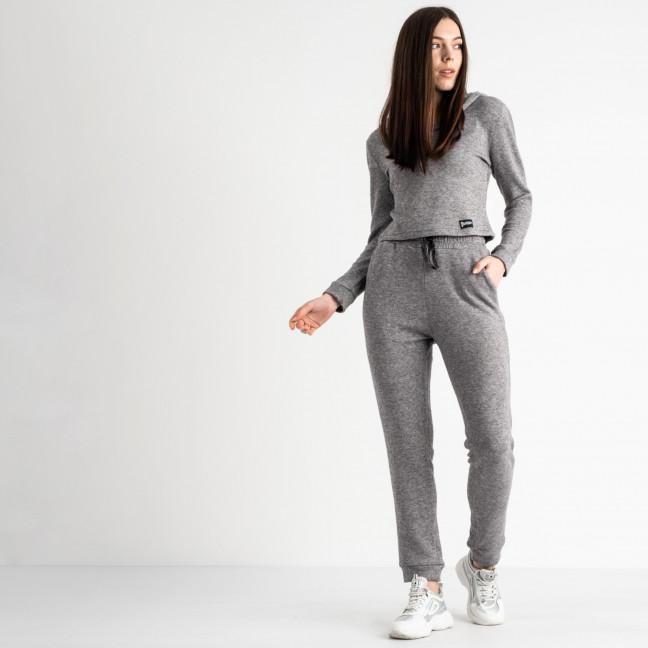 0545-2 серый спортивный костюм женский из двунитки (4 ед. размеры: 48.50.52.54) Спортивный костюм: артикул 1118844