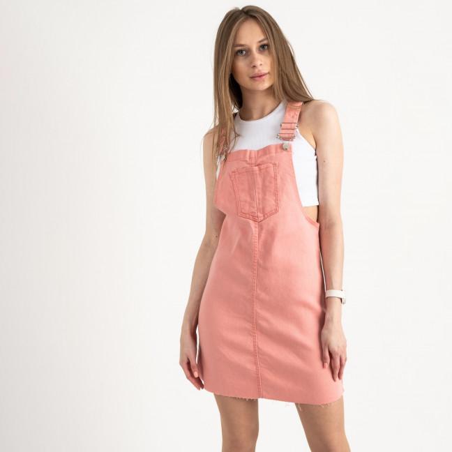 2909-7 Defile сарафан джинсовый розовый стрейчевый ( 7 ед. размеры: 34/2.36/2.38/2.40) Arox: артикул 1122051