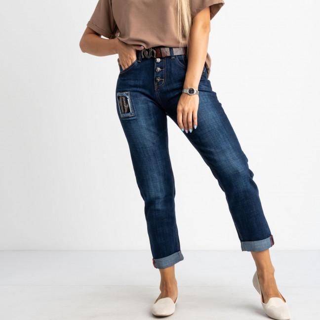 7038 OK&OK джинсы женские полубатальные синие стрейчевые (6 ед. размеры: 28.29.30.31.32.33) OKOK: артикул 1123461