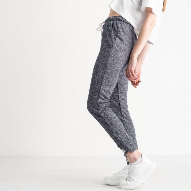 1420-6 синие спортивные штаны женские из двунитки (4 ед. размеры: S.M.L.XL) Спортивные штаны: артикул 1119077