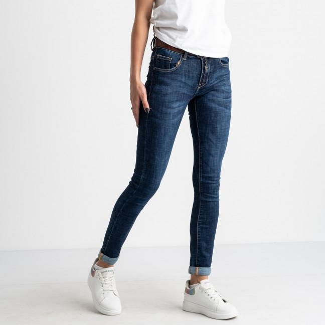 8065 OK&OK джинсы женские синие стрейчевые (6 ед. размеры: 25.26.27.28.29.30) OKOK: артикул 1123455