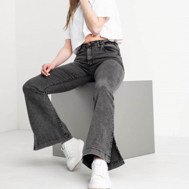 0283 Miss Aura джинсы-клеш женские серые стрейчевые (8 ед. размеры: 26.27.27.28.28.29.30.31) Miss Aura: артикул 1119551