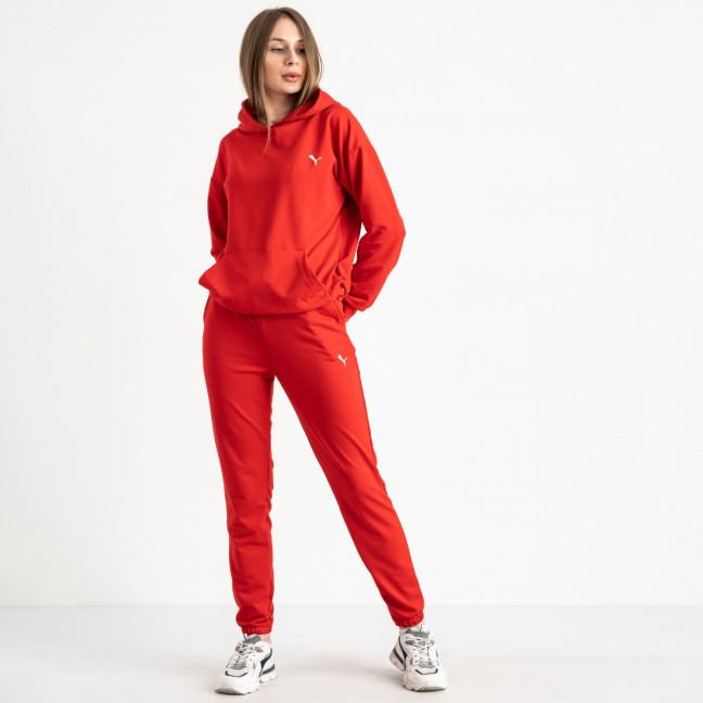 15222-13 Mishely красный женский спортивный костюм из двунитки (4 ед. размеры: S.M.L.XL) Mishely: артикул 1121785