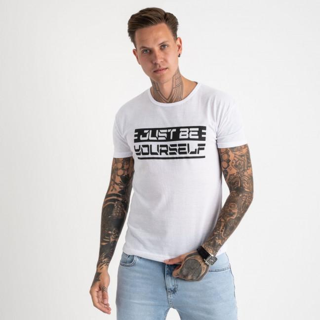 2620-10 белая футболка мужская с принтом (4 ед. размеры: M.L.XL.2XL) Футболка: артикул 1121055