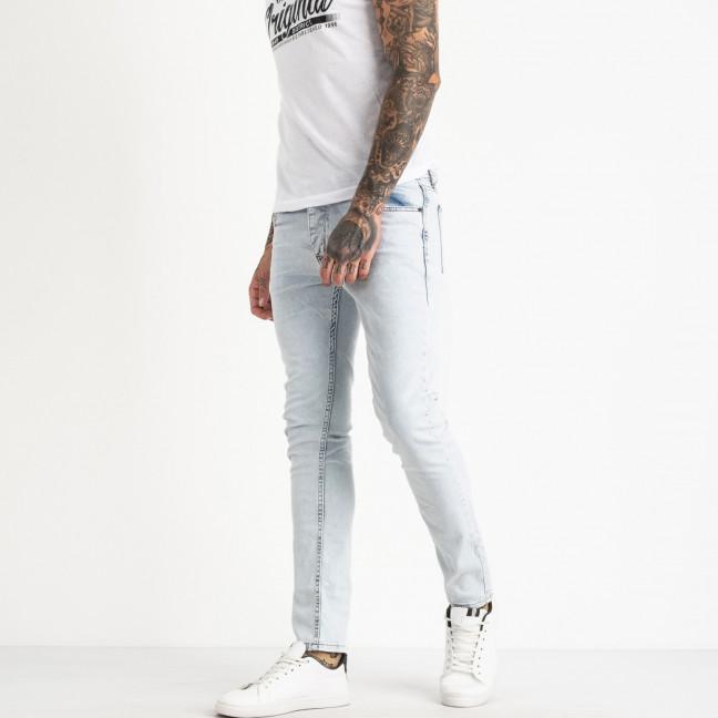 0517 Jack Kevin джинсы мужкие голубые стрейчевые(8 ед размеры: 30.31.32.33/2.34.36.38) Jack Kevin: артикул 1121135