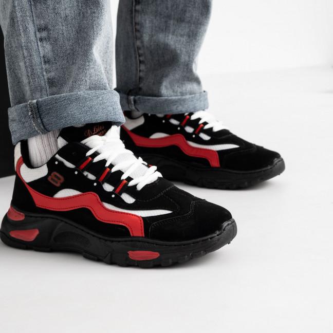181120-1 черно-красные кроссовки спортивные мужские (10 ед. размеры: 39.40.40.41.41.42.42.43.43.44) Кроссовки: артикул 1119471