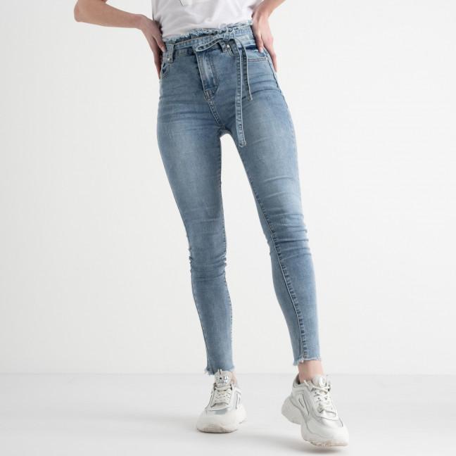 0631 New Jeans американка голубая стрейчевая (6 ед. размеры: 25.26.27.28.29.30) New Jeans: артикул 1117684