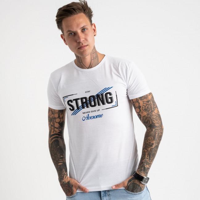 2612-10 белая футболка мужская с принтом (4 ед. размеры: M.L.XL.2XL) Футболка: артикул 1120970