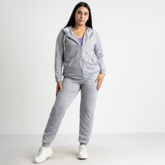 15111-2 Mishely серый женский спортивный костюм батальный из двунитки (4 ед. размеры: 50.52.54.56) Mishely: артикул 1117427
