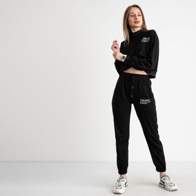 7806-3 M&C спортивный костюм женский черный (3 ед. размеры: универсал S-L ) M&C: артикул 1122627