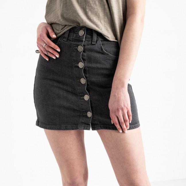 0200-5 Defile юбка на пуговицах серая котоновая (6 ед. размеры: 34.36.38.38.38.40) Defile: артикул 1118962