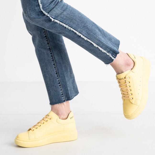 271020-10 желтые кроссовки женские из экокожи (10 ед. размеры: 36.37.37.38.38.39.39.40.40.41) Кроссовки: артикул 1119472