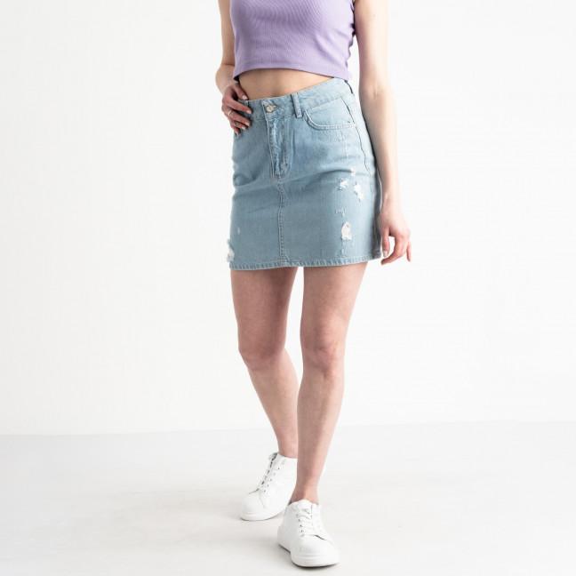 0032-128 Lovest юбка джинсовая голубая котоновая (6 ед. размеры: 34.36.38.38.40.42) Lovest: артикул 1118739