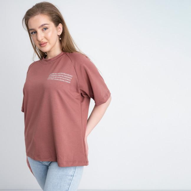 2220-5 Mishely футболка терракотовая женская батальная из двунитки ( 4 ед. размеры: 50.52.54.56) Mishely: артикул 1122669