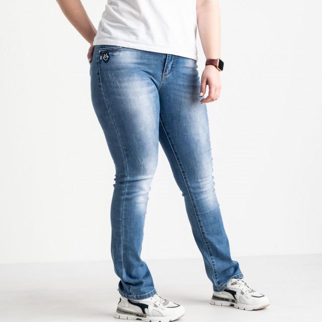 1255 Lady N джинсы батальные женские голубые стрейчевые (6 ед. размеры: 31.32.33.34.36.38) Lady N: артикул 1088397