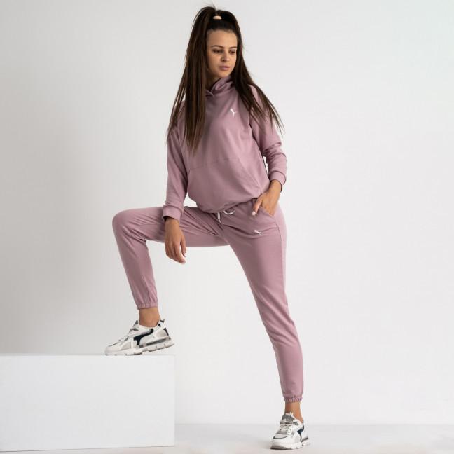 15222-14 Mishely розовый женский спортивный костюм из двунитки (4 ед. размеры: S.M.L.XL) Mishely: артикул 1123284