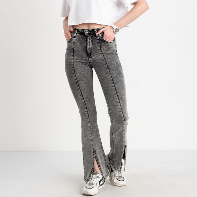 1776 Happy pink джинсы-клёш серые стрейчевые (7ед. размеры: 26.27/2.28.29.30.31) Happy Pink: артикул 1122793