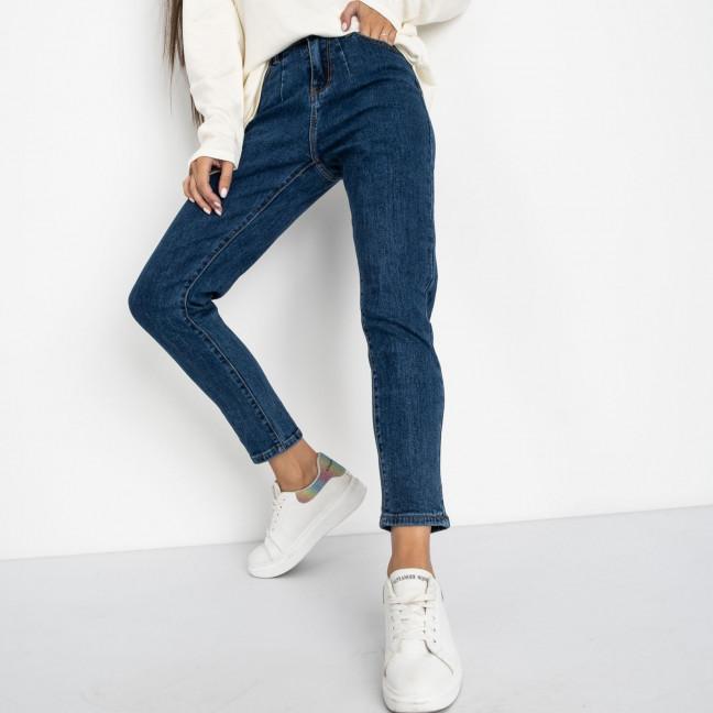 5023 New Jeans мом синий стрейчевый (6 ед. размеры: 25.26.27.28.29.30) New Jeans: артикул 1123626