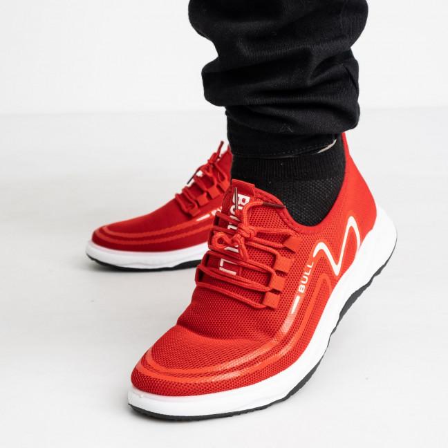 1963-5 кроссовки красные мужские с белым принтом (8 ед. размеры: 41.42/2.43/2.44/2.45) Кроссовки: артикул 1121854