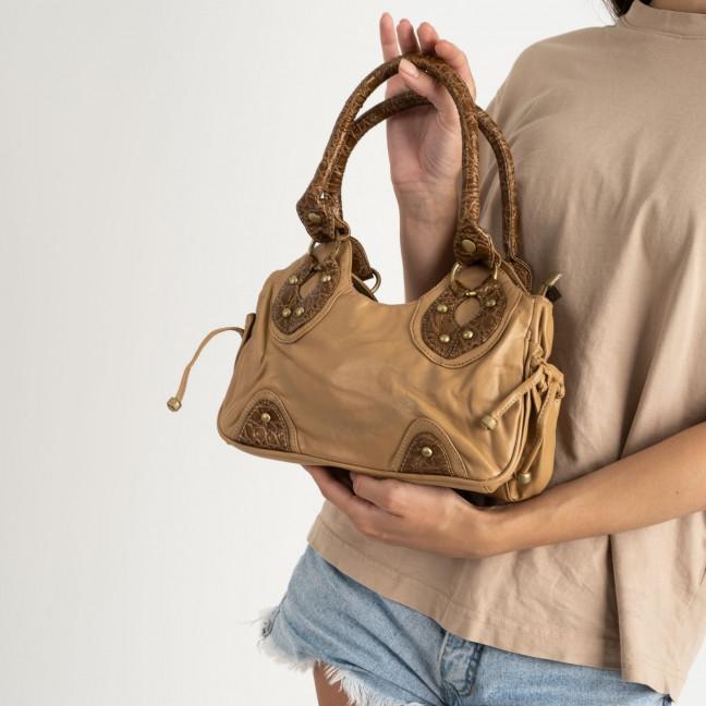 0224-32 сумка женская коричневая (5 ед) Сумка: артикул 1123210