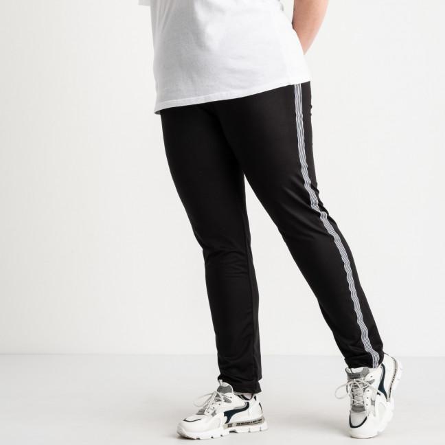 0030 спортивные штаны батальные черные с белыми лампасами стрейчевые (5 ед. размеры: 50.52.54.56.58) Спортивные штаны: артикул 1120478
