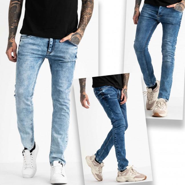 6743 Destry джинсы мужские синие стрейчевые с царапками микс из 3-ех моделей (8 ед. размеры: 29.29.29.32.32.32.32.32) Destry: артикул 1117946