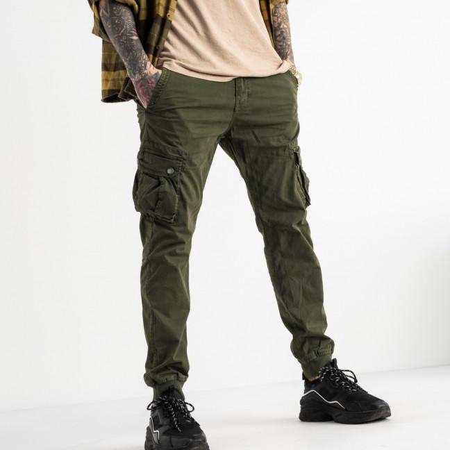 6510-21 хаки Caleb брюки карго мужские стрейчевые (5 ед. размеры: 30.32.34.36.38) Caleb: артикул 1114475