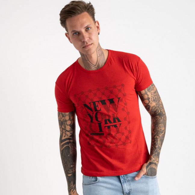 2624-3 красная футболка мужская с принтом (4 ед. размеры: M.L.XL.2XL) Футболка: артикул 1121079