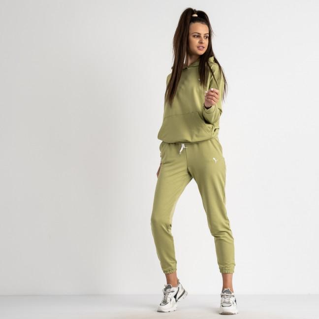 15222-17 Mishely оливковый женский спортивный костюм из двунитки (4 ед. размеры: S.M.L.XL) Mishely: артикул 1123285