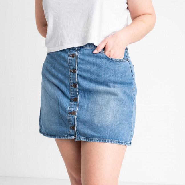 0028-115 Lovest юбка полубатальная голубая котоновая (6 ед. размеры: 42.44.46.46.48.50) Lovest: артикул 1118741