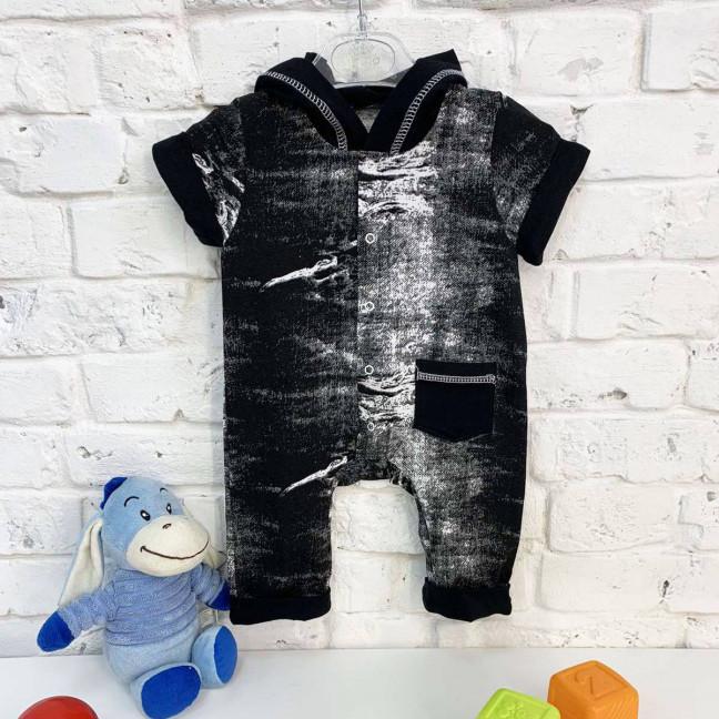 0402-1 черный комбинезон на ребенка 3-9 месяцев (3 ед. размеры: 62.68.74) Маленьке сонечко: артикул 1121824