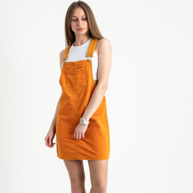 2905-5  Defile сарафан велюровый оранжевый стрейчевый ( 5 ед. размеры: 34/2.36.38.40) Defile: артикул 1122040