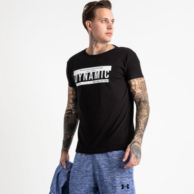 2713-1 черная футболка батальная мужская с принтом (4 ед. размеры: XL.2XL.3XL.4XL) Футболка: артикул 1119943