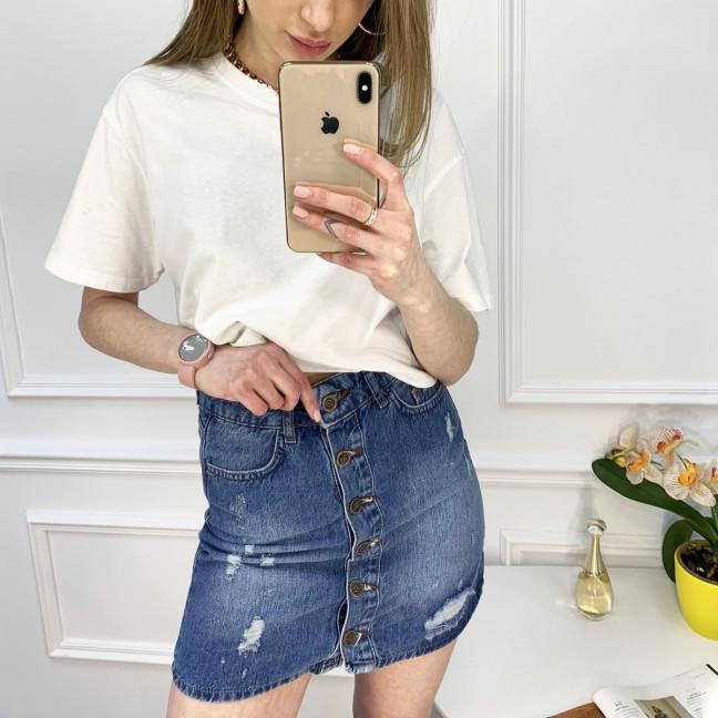 0022-124-3 юбка джинсовая синяя котоновая (3 ед. размеры: 38/2.40) Юбка: артикул 1122918