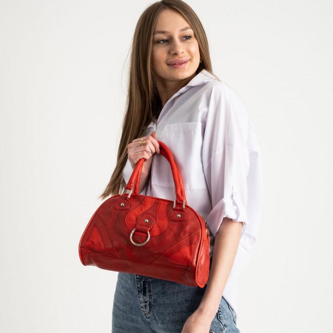0058 сумка красная женская из экокожи (5 ед.) Сумка: артикул 1121326